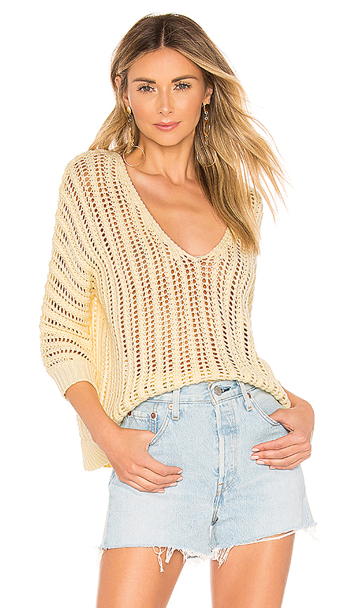 Tularosa Bergamot Sweater in Yellow. - size M (also in XS,S,L)