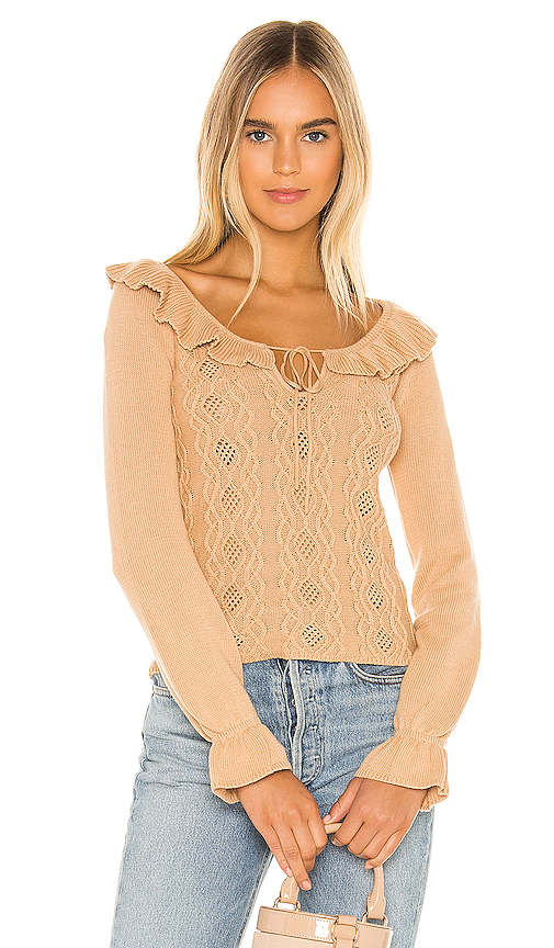 Tularosa Katrina Sweater in Tan. - size M (also in L,S,XL,XS,XXS)
