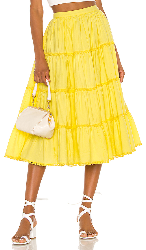 Tularosa Thelma Skirt in Yellow. - size M (also in XXS,XS,S,L,XL)