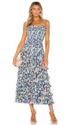AMUR Viola Dress in Blue. - size 0 (also in 2)