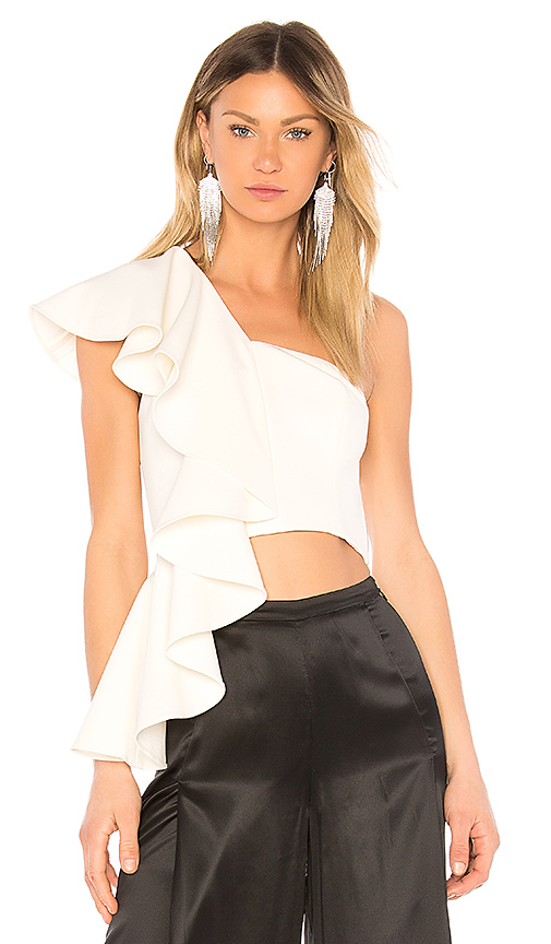 AMUR Hailey Top in White. - size M (also in L)