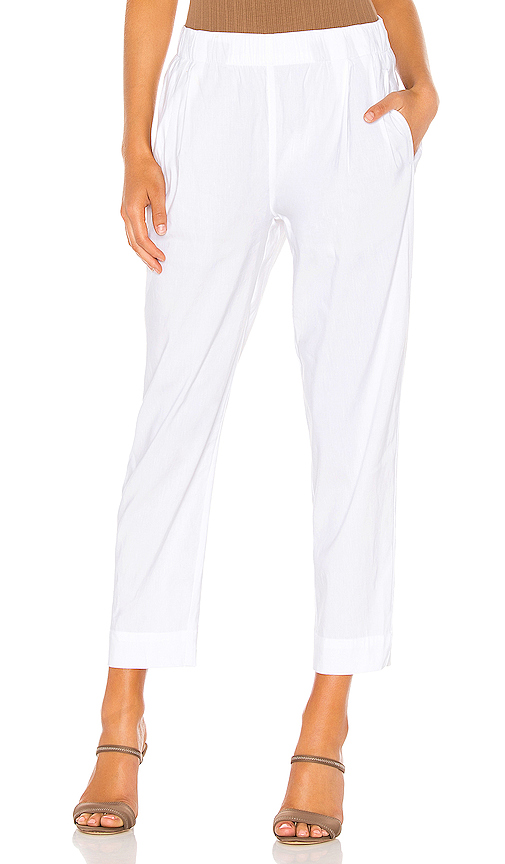 Vince Tapered Pull On Pant in White. - size M (also in XS,S,L)
