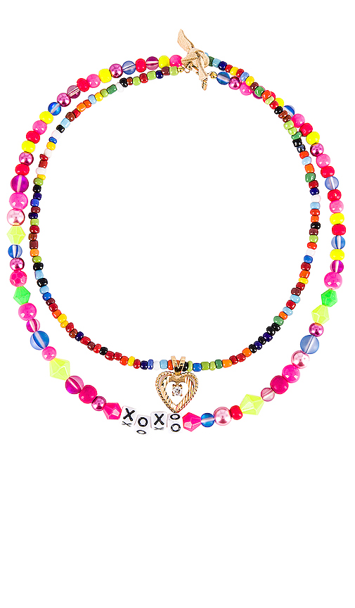 Vanessa Mooney The All That Necklace in Pink.