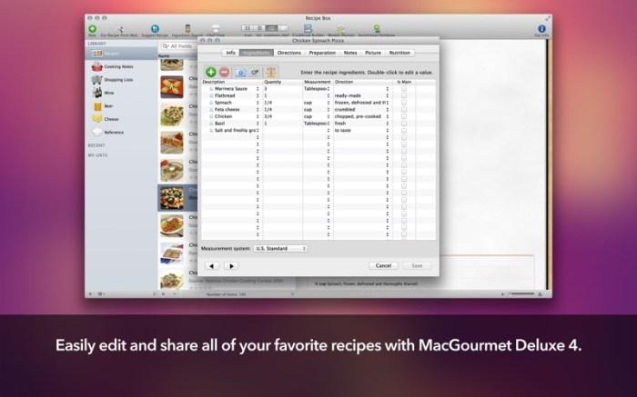 MacGourmet Deluxe 4 Screenshot 03 587pltn