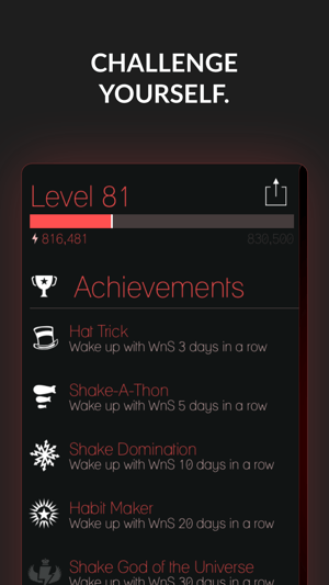 Wake N Shake Alarm Clock Screenshot