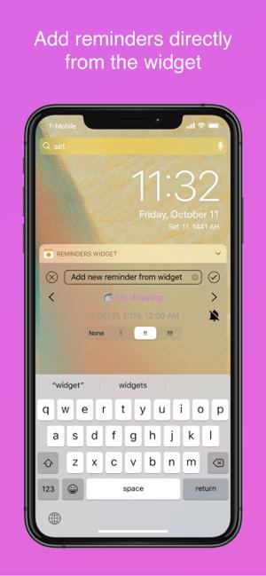 Reminders Widget Screenshot