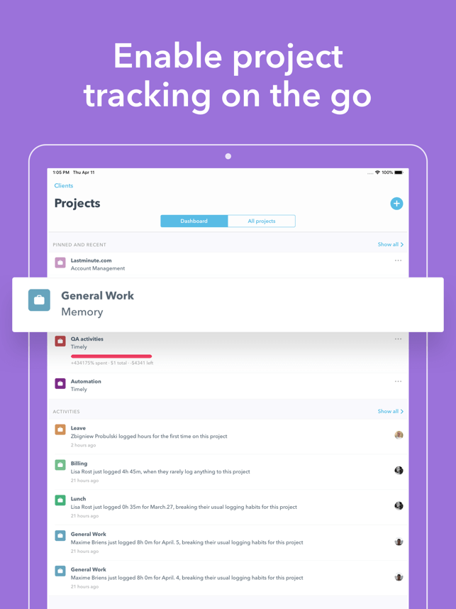 Timely Automatic Time Tracking Screenshot