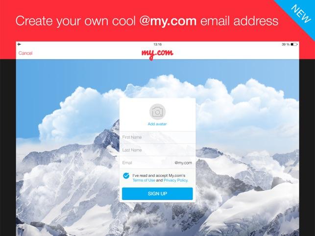myMail – Email App Screenshot