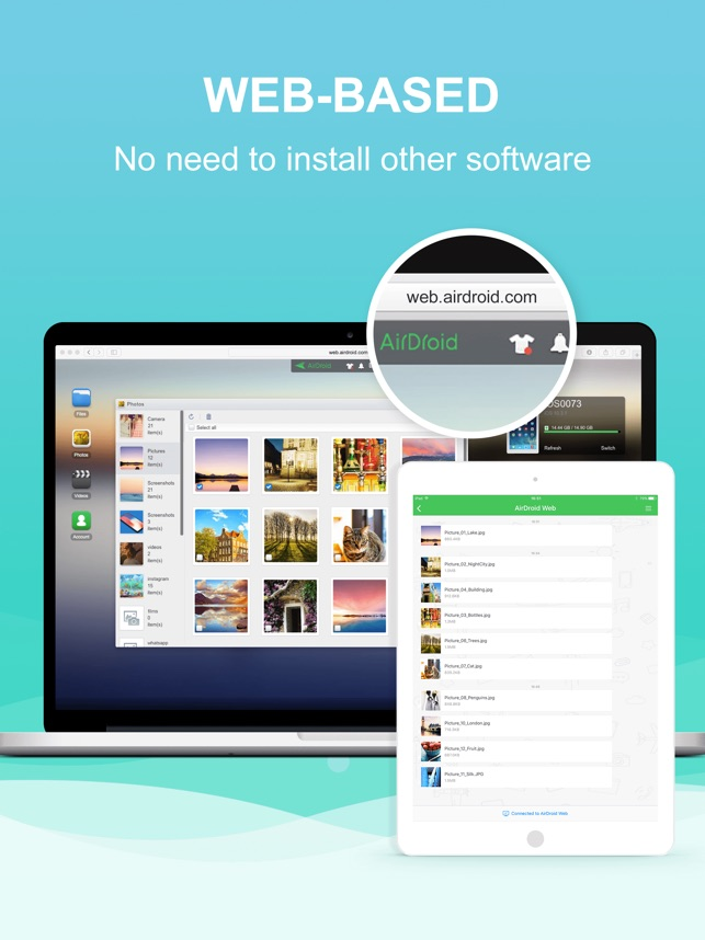 AirDroid - File Transfer&Share Screenshot