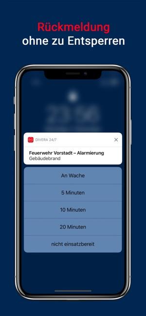 DIVERA 24/7 Verfügbarkeit Screenshot