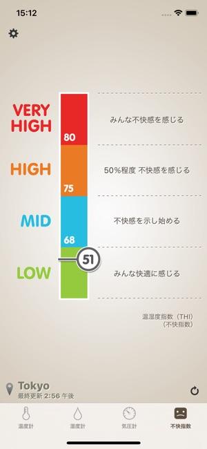 温湿度計 (体感温度,気圧計,不快指数) Screenshot
