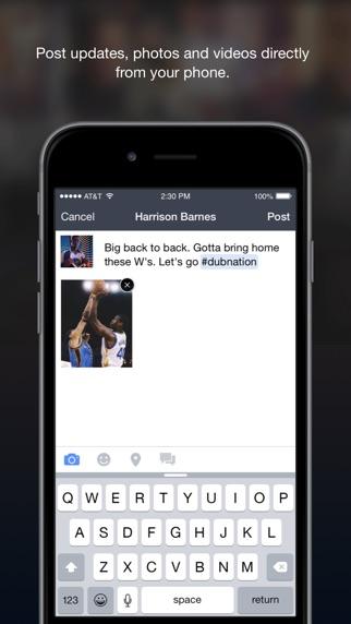 Facebook Mentions Screenshot