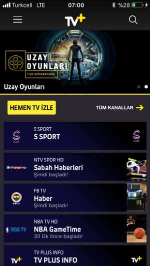 Turkcell TV+ Screenshot