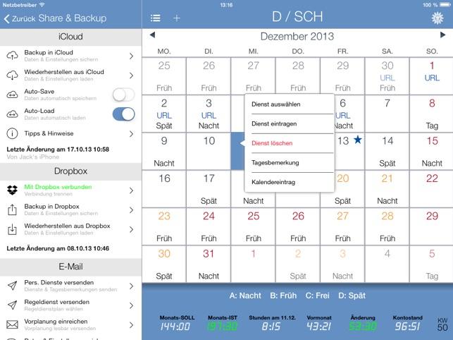 SchichtPro+ Screenshot