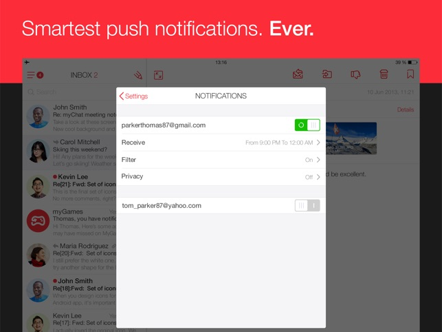 myMail – Email App Screenshot