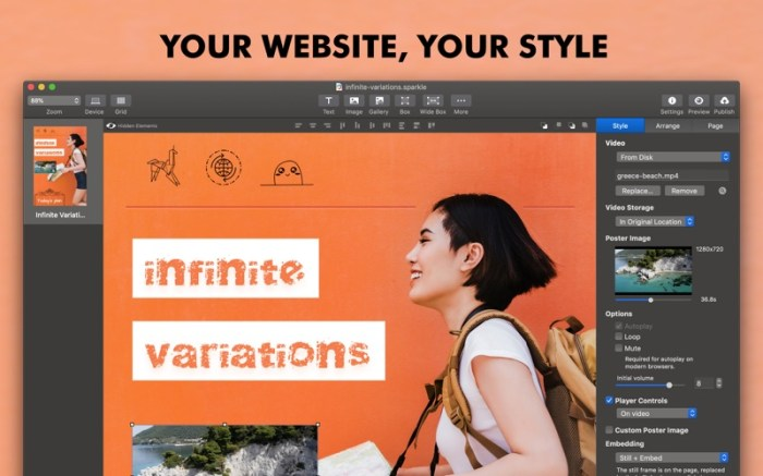 Sparkle, Visual Web Design Screenshot 01 ikzefpn