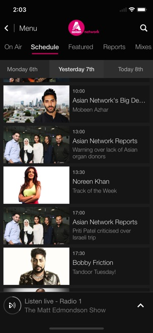 BBC iPlayer Radio Screenshot