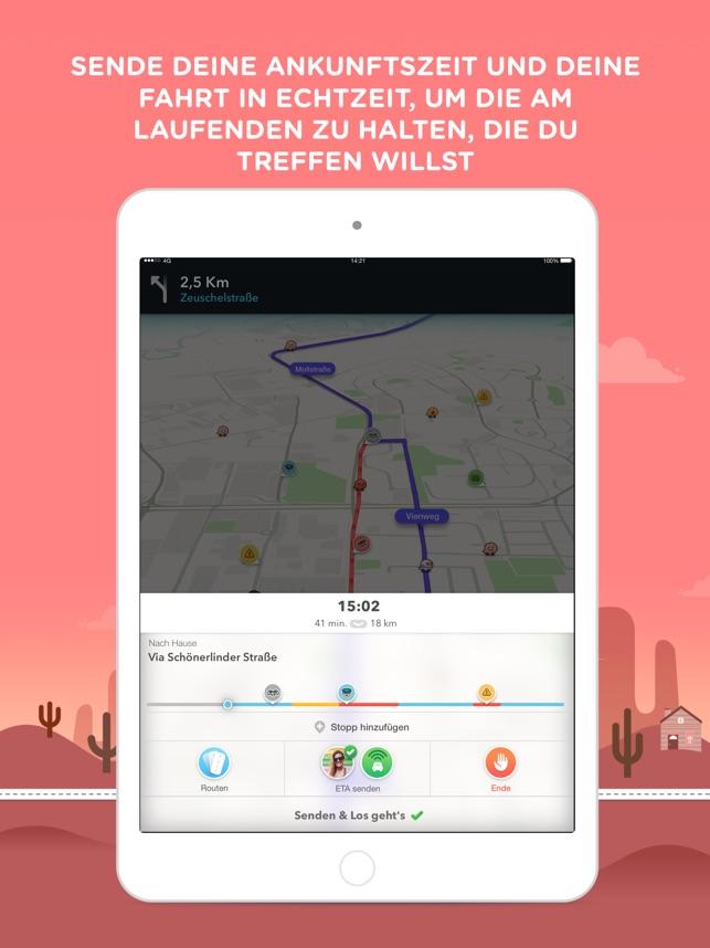 Waze Navigation und Verkehr Screenshot