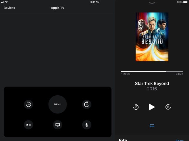 Apple TV Remote Screenshot