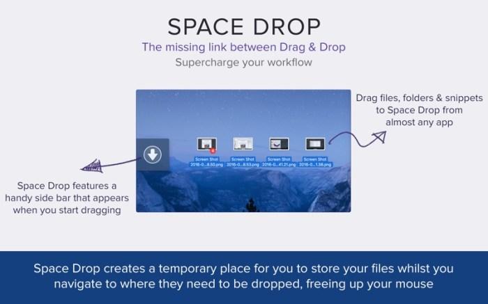 Space Drop: Better Drag & Drop Screenshot 01 1377vvn