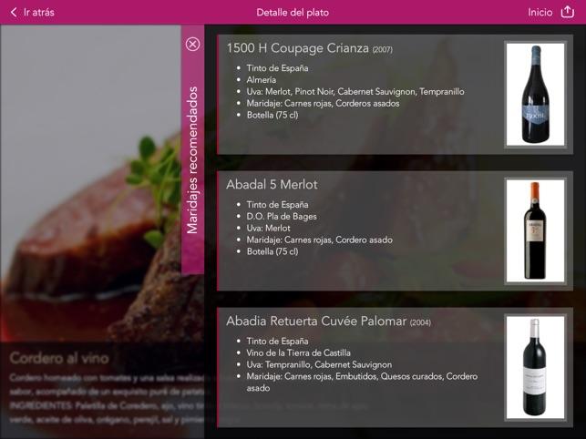 Vinipad Carta Vinos y Comidas Screenshot