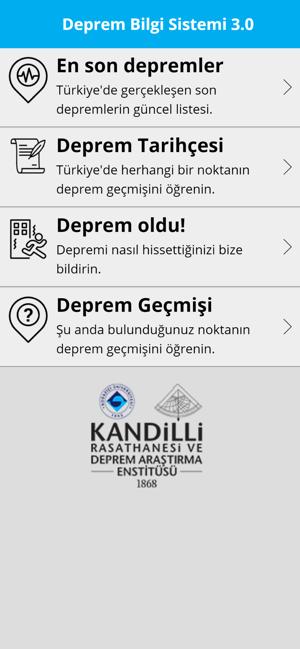 Deprem Bilgi Sistemi 3.0 Screenshot