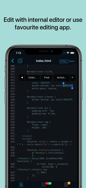 Working Copy Screenshot