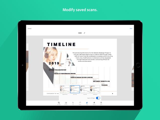 Adobe Scan: Paper Scanner Screenshot