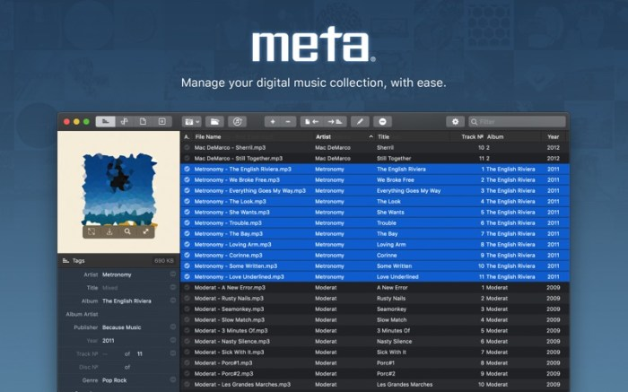 Meta – music tag editor Screenshot 01 57w1x2n