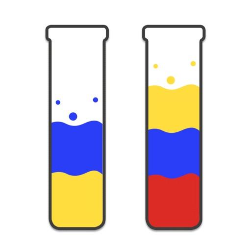 Icona del puzzle di ordinamento dell'acqua