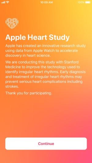 Apple Heart Study Screenshot