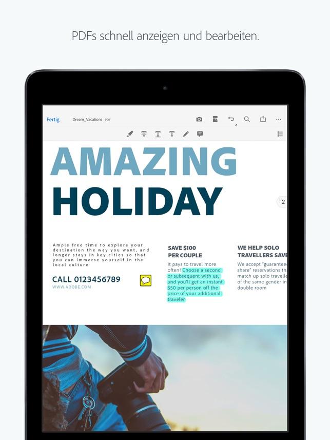 Adobe Acrobat Reader Screenshot