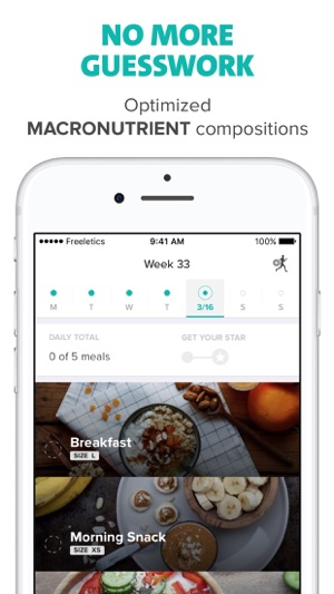 Freeletics Nutrition Screenshot