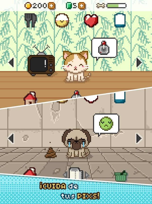 Pix! - Virtual Pet Widget Game Screenshot