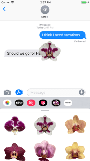 Real Orchid Stickers Screenshot