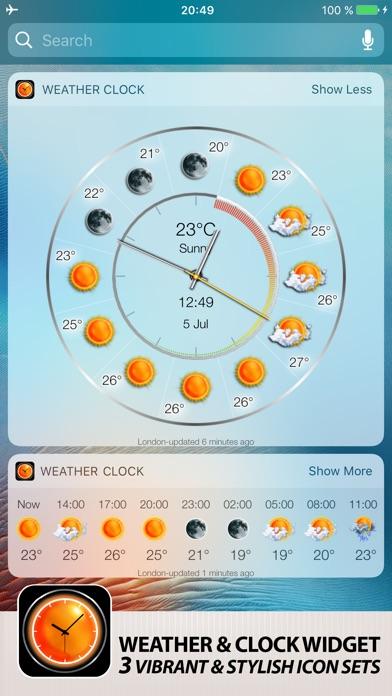 Weather Clock Widget Screenshot