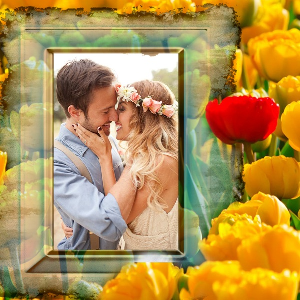 Flower Photo Frame - Art Photography & mega Frames