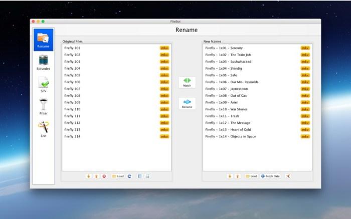 FileBot Screenshot 01 1hjqnian