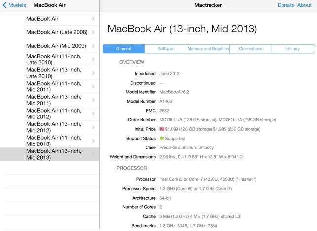 Mactracker Screenshot