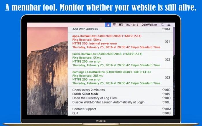 Simple WebMonitor Screenshot 01 135tqtn