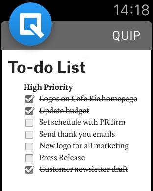 Quip Screenshot