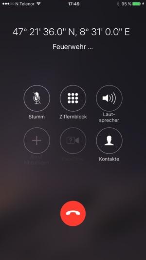Notruf überall Screenshot