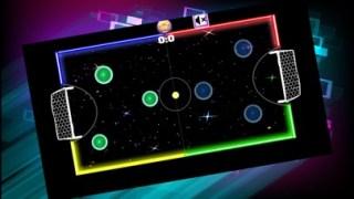 マルチ プレーヤーのテーブル ゲーム子供のために暗闇で光るネオンの光空気ホッケースクリーンショット2