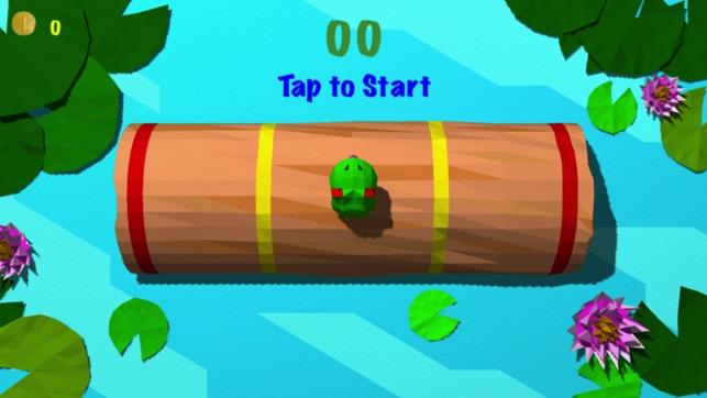 Froggy Log - Registro de balanceo sin fin Arcade y Simulador de leñador juego Stay Dry y Qué No caiga en el agua! Screenshot