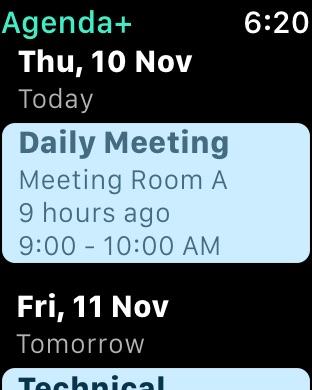 Agenda: Widget+ Screenshot