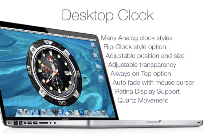 Desktop Clock Live 2 2 0 download free | Mac Torrent Download