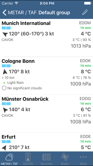 ‎Flugwetter Screenshot