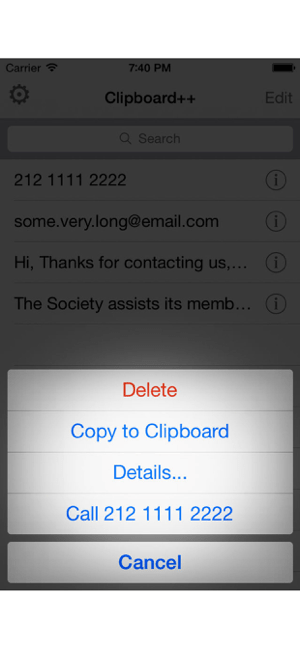 ‎Clipboard++ Screenshot