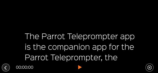Parrot Teleprompter Screenshot