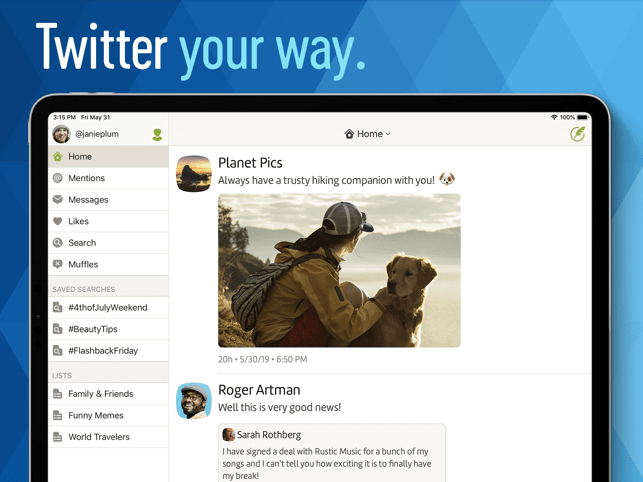 Twitterrific: Tweet Your Way Screenshot